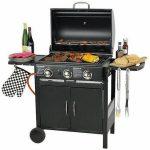 Grill Flame Master de exterior, negru